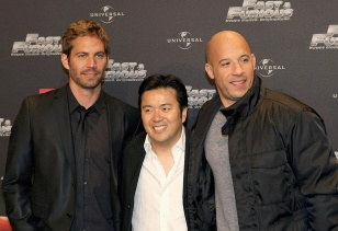 Paul Walker, Justin Lin (director) y Vin Diesel